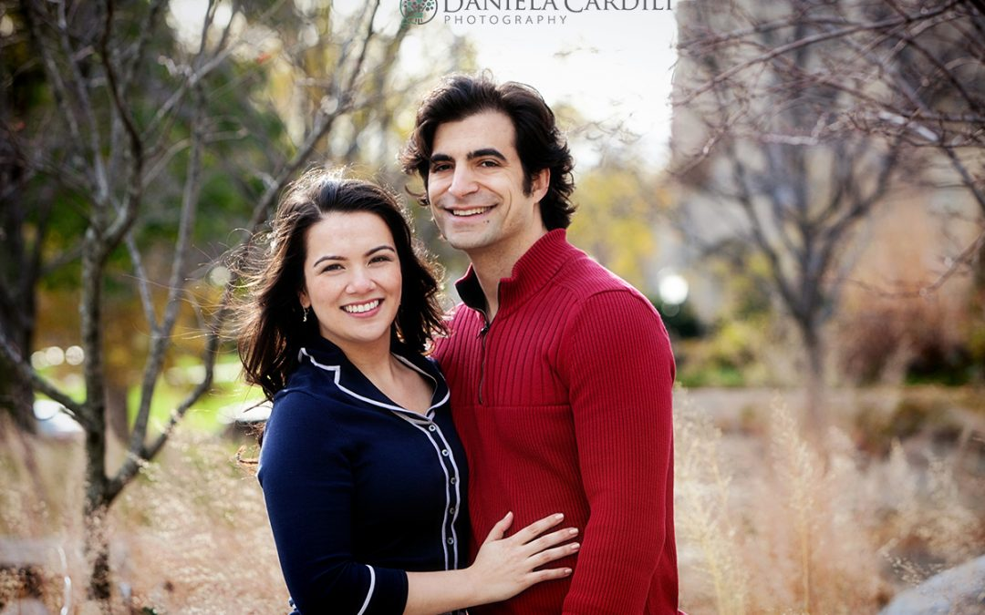 Emily and Nadav – University of Chicago Engagement Session