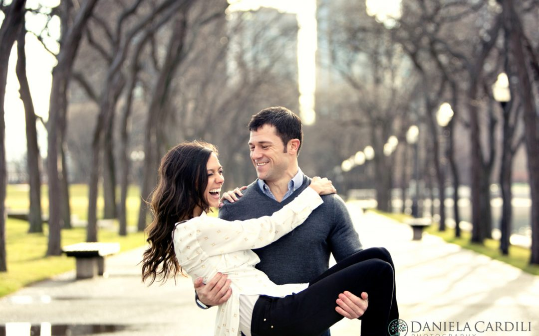 Katie and Mike's Engagement Session at Olive Park, Chicago